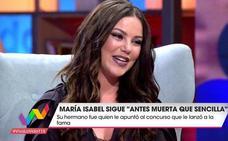 María Isabel se arrepiente de cómo era de pequeña: «Me da vergüenza»