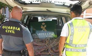 Detenidas 26 personas por robar 10 toneladas de cobre en varias provincias