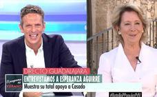 Esperanza Aguirre pide trabajo a Ana Rosa Quintana