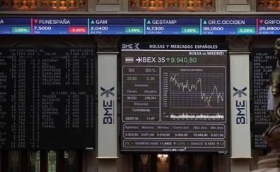 El Ibex retrocede con la presión de la banca y Telefónica en contra