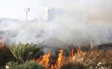 Dan por extinguido el incendio declarado en un descampado junto a Kinépolis