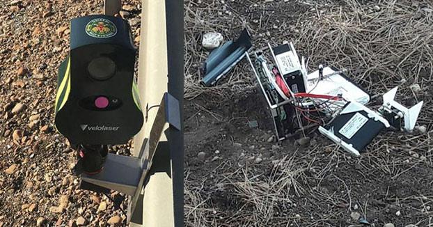 Destroza un radar Velolaser ante la Guardia Civil y ahora pide ayuda para pagarlo