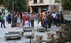 Los concentrados intentan parar las obras en Deán Mazas