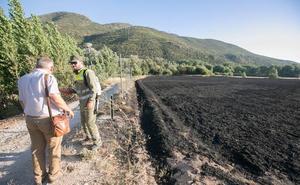 El incendio declarado y extinguido este viernes en un paraje de Atarfe queda en conato