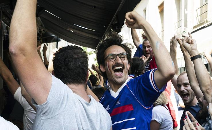 La fiesta en París por la victoria en el Mundial
