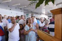 La misa en honor a la Virgen del Carmen, en imágenes