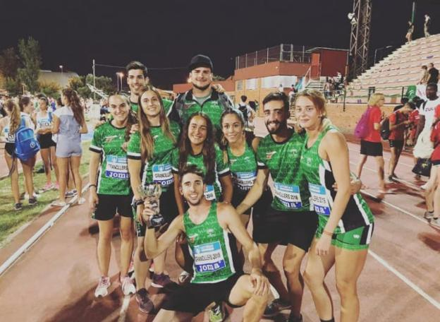 Los atletas de Unicaja presentes en Granollers./IDEAL