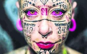 La mujer que aspira al Guiness de la más tatuada: «Soy adicta a la tinta»