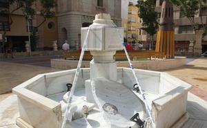 Identifican a tres jóvenes como causantes de los destrozos de la fuente de la Plaza de San Pedro