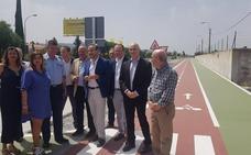 La Junta pone en servicio la vía ciclopeatonal entre Armilla y Alhendín que conecta con el metro