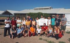 Jóvenes de distintos puntos de España colaboran en la excavación de Cástulo