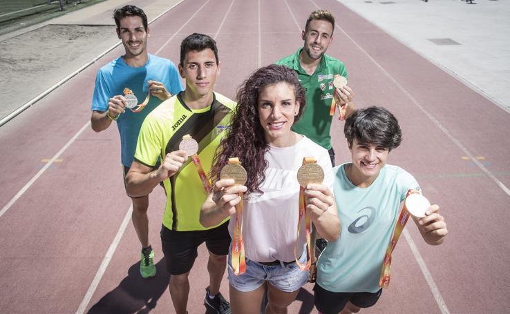 Los 5 atletas granadinos medallistas en el Campeonato de España