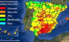 Declarado el nivel «extremo» de riesgo de incendio en Jaén para este jueves