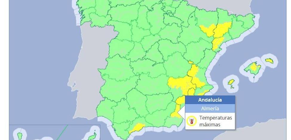 Alerta amarilla por temperaturas de hasta 40º en Almería