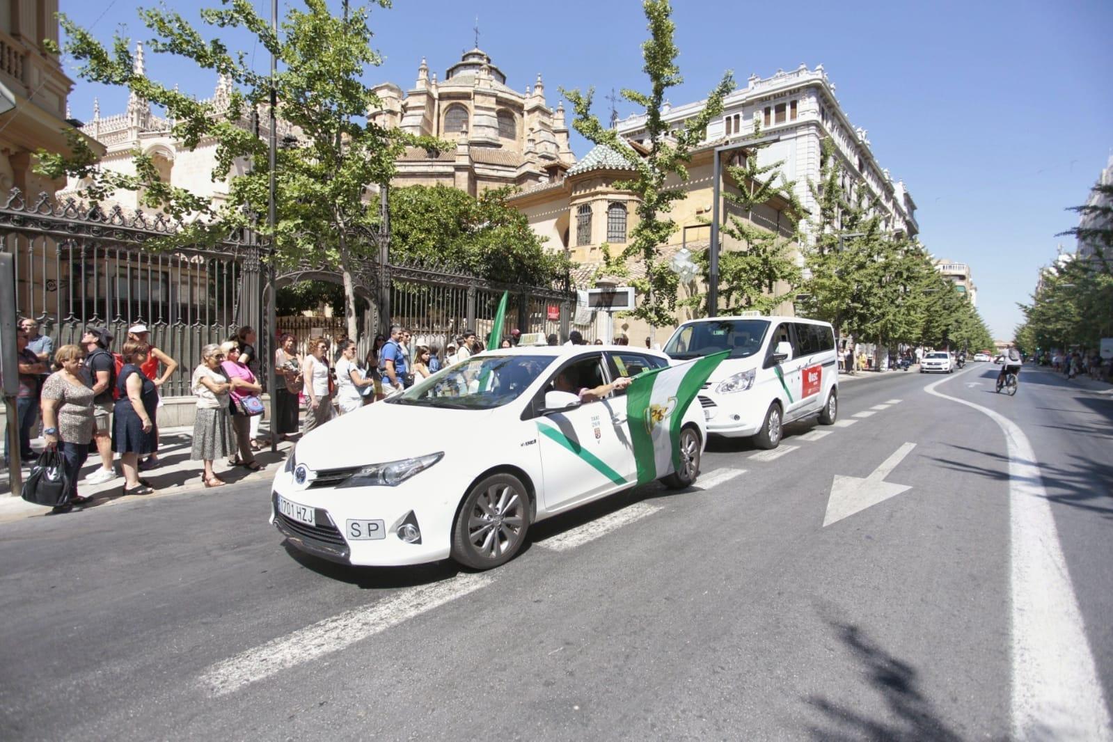 Huelga de taxistas en Granada