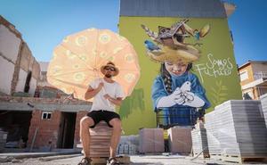Grafitero a la sombra