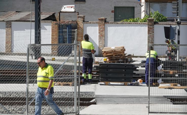 La estación de Andaluces encara las últimas obras