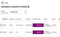Los billetes baratos de AVE a Madrid se cortan en septiembre por un desajuste informático