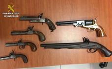 Detenido en Dúrcal por tener en su casa siete armas sin licencia y sin documentación