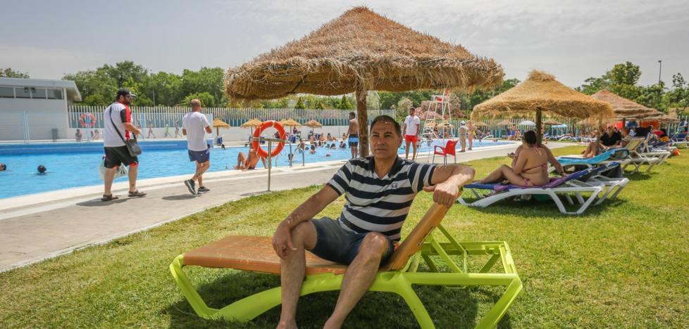 Ángel Rubio: «Nuestra piscina es un verdadero oasis de paz»