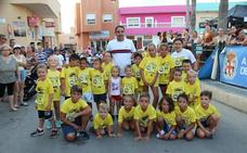 Unos 200 niños participan en la carrera infantil 'Flamenco Kids Running' de Cabo de Gata