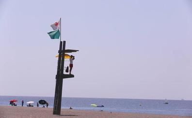 Bandera verde en todas las playas de la Costa, salvo en San Cristóbal por la presencia de medusas