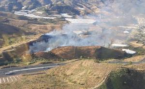 El incendio forestal en Molvízar está bajo control