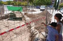 Excavación en la villa romana de Los Vergeles