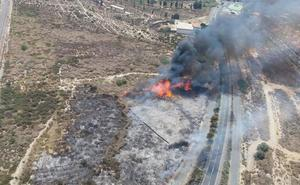 Controlado el incendio producido en el Cercado de Huércal de Almería