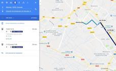 El recorrido del Metro de Granada no aparece en Google Maps