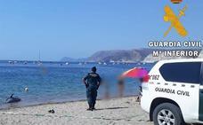 Retiran un delfín mular varado en la playa de Aguamarga