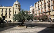 Calles desérticas en Granada