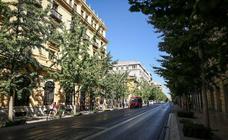 Las calles de Granada como nunca: casi vacías del todo