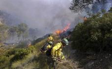 Estabilizado un incendio forestal en Baños de la Encina