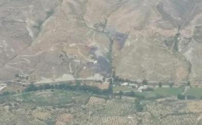Extinguido el incendio forestal de Dúdar con unas cinco hectáreas de matorral afectadas