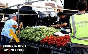 Once detenidos en Adra y Roquetas por hurtos de productos agrícolas que 'colocaban' en mercadillos