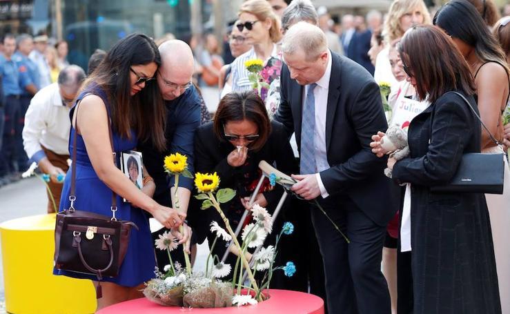 El homenaje a las víctimas de los atentados del 17-A, en imágenes