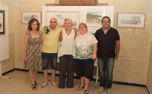 'Reflexión A4', cuatro artistas llevan su visión de la acuarela a Roquetas