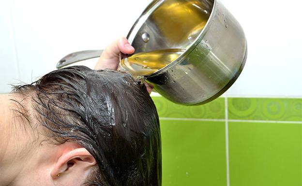 Aceite de olivo con romero para el cabello