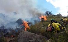 Extinguido el fuego forestal de Algarinejo, que queda en conato al afectar a una hectárea de matorral