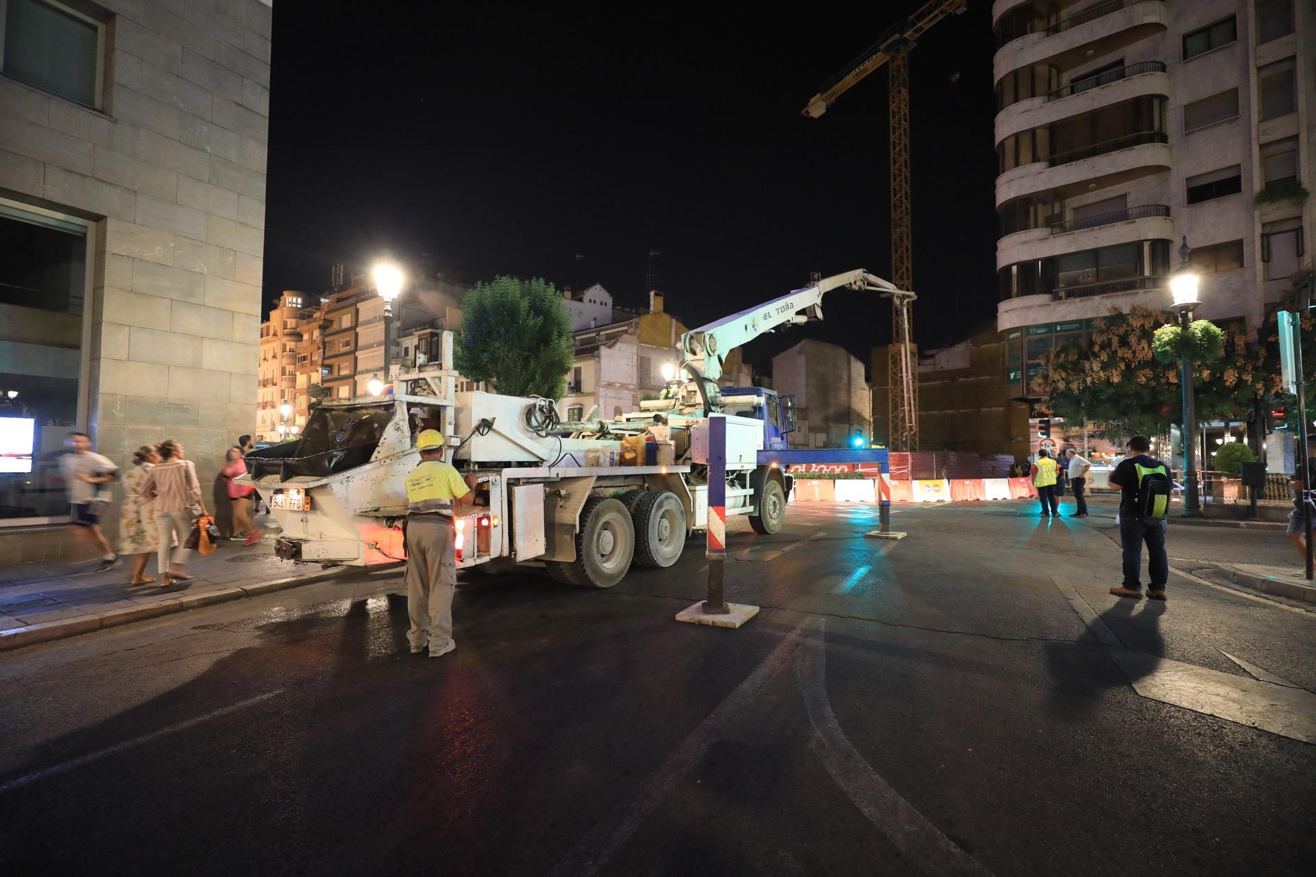 Los vecinos de Puerta Real ya pueden volver a sus casas y empiezan a apuntalar los cimientos de la obra