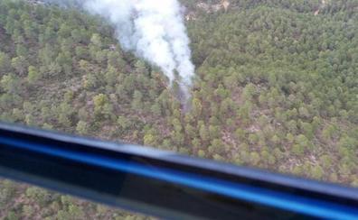 Controlado el incendio forestal declarado en Hornos