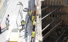 El corte de tráfico en Puerta Real por el incidente en el solar del hotel Montecarlo se mantendrá hasta el domingo