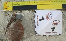 La Guardia Civil destruye una granada de la Guerra Civil en Sierra Nevada