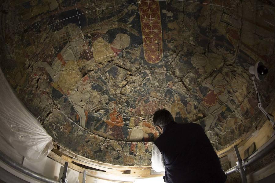 El antes, el durante y el ahora de las tres bóvedas de la sala de los Reyes