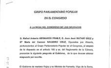 PP: «El AVE no puede ser víctima de los pactos con los independentistas»