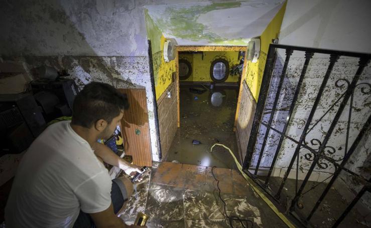 Las imágenes de las consecuencias tormenta en Alfacar
