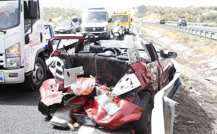 Grave accidente en la A-92 a la altura de Peligros