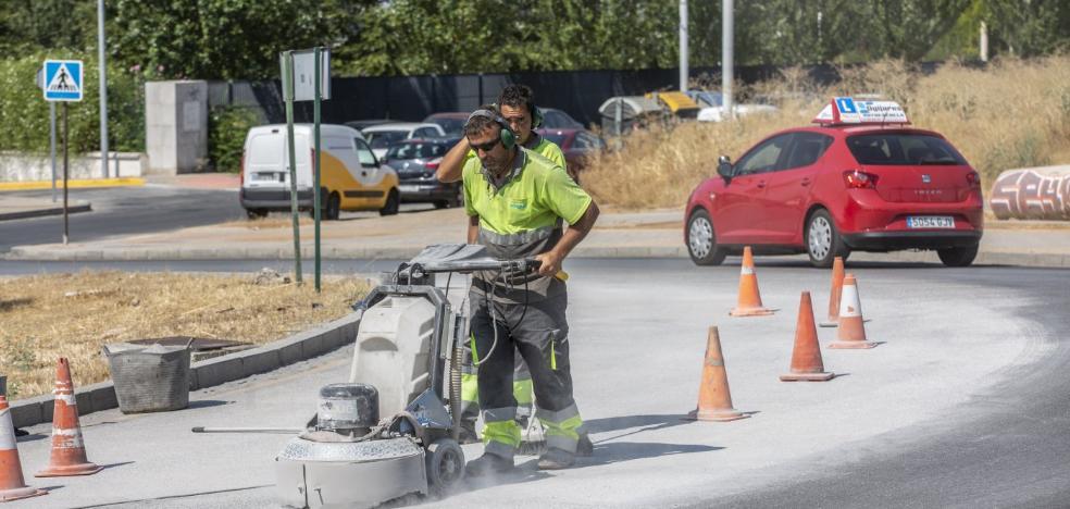 Mantenimiento 'rompe' cuatro rotondas para hacerlas más seguras