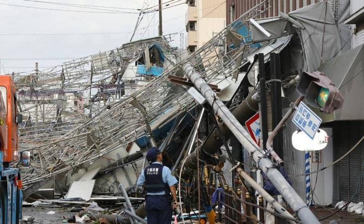 El tifón 'Jebi' azota Japón